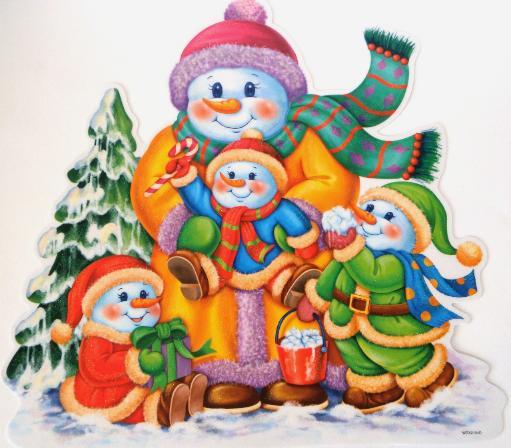 Mexsupplies calcomanias navide as for Figuras de nieve navidenas